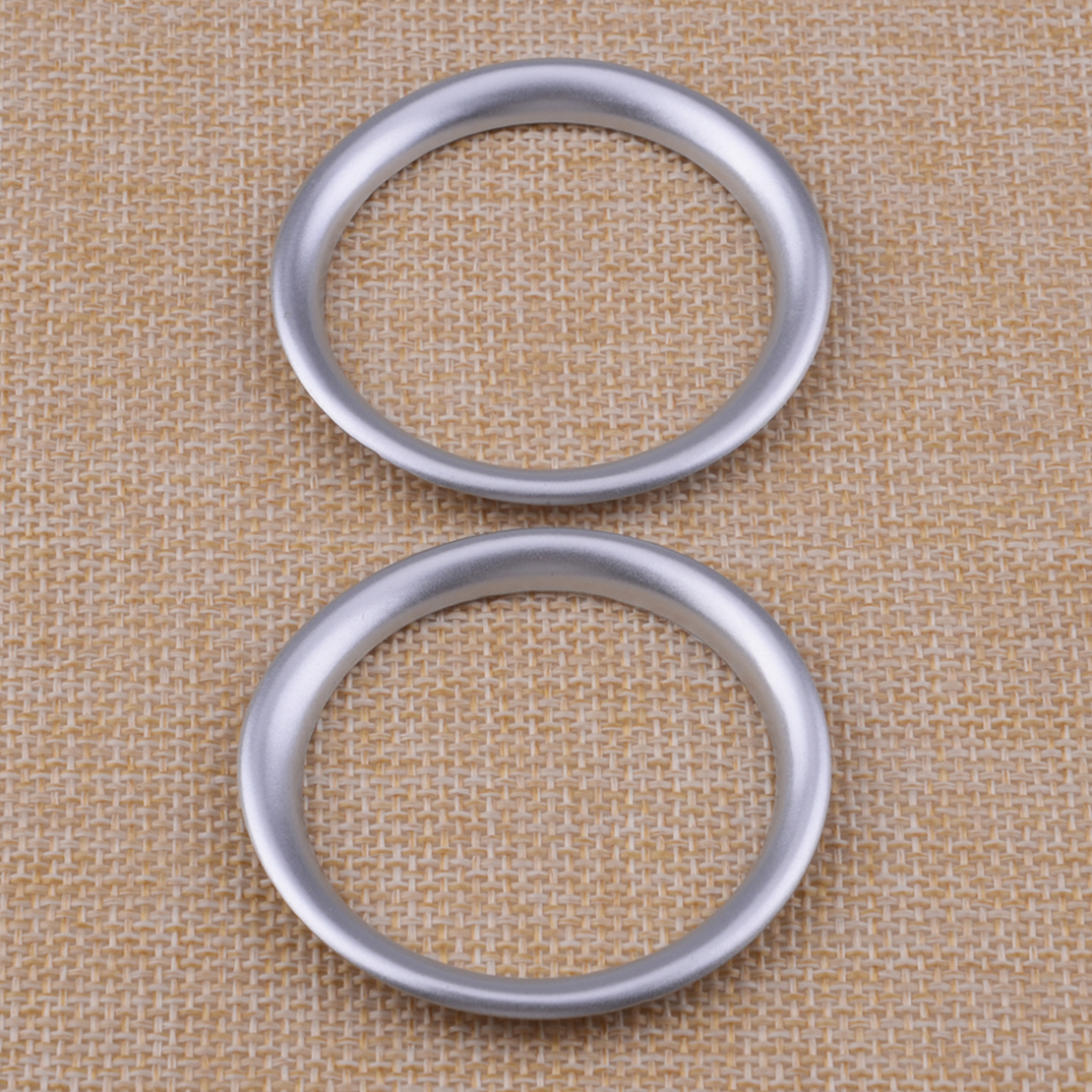 CITALL 2pcs Chrome Plated Car Inner Front Pillar Door Stereo Speaker Trim Ring Fit for Mazda <font><b>CX</b></font>-<font><b>5</b></font> 2nd 2017 <font><b>2018</b></font> image