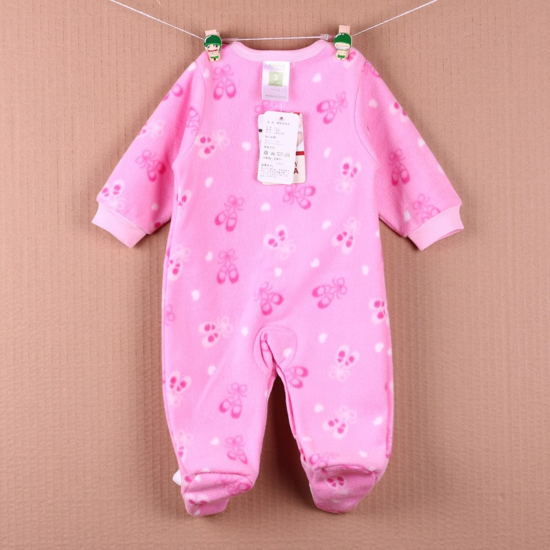 New Arrival Baby Footies Boys&Girls Jumpsuits Spring Autumn Clothes Warm Cotton Baby Footies Fleece Baby Clothing Free Shipping (21)