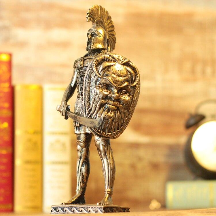 28cm Height Polyresin Ancient Greek/Roman Warrior Armor model Creative Home Decration Aircraft Gift polyresin ancient greek roman warrior armor model creative home decration aircraft gift
