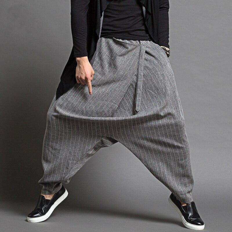 b5539ca1d897 Casual Dancer Brand Men's Sagging Pants Harem Pantalon Hommes Men Thin Loose  Harem Pants Men Fashion Design Baggy Pants Trousers-in Harem Pants from  Men's ...