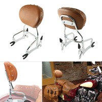 Black/Chrome 12 Backrest Sissy Bar W/ Pad For Indian Chief Classic Vintage 2014 2018 15 16 Dark Horse 16 18