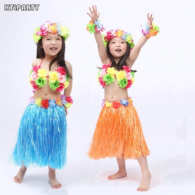6 teile/satz 30 cm Kinder Hawaiia Hula Rock Armbänder Garland ...