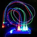 1 m levou luz cabo micro usb carregador cabo de sincronização de dados para samsung htc xiaomi meizu android telefone hauwei tablet usb cabos de carregamento