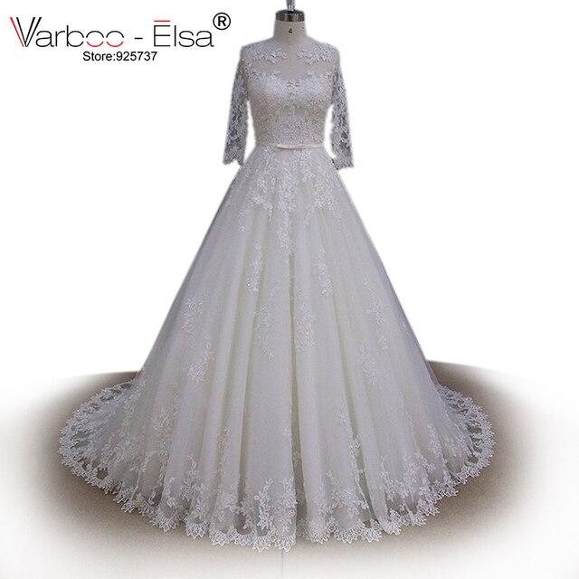 Vestido de noiva renda prinzessin tüll ballkleid brautkleid ...