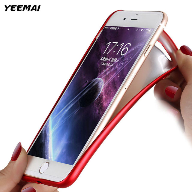 Matte Soft TPU Silicone Phone Case For iPhone 7 6 8 X 5 5S SE Luxury Ultra Thin Red Full Back Cover For iPhone 6S 7 8 Plus Coque