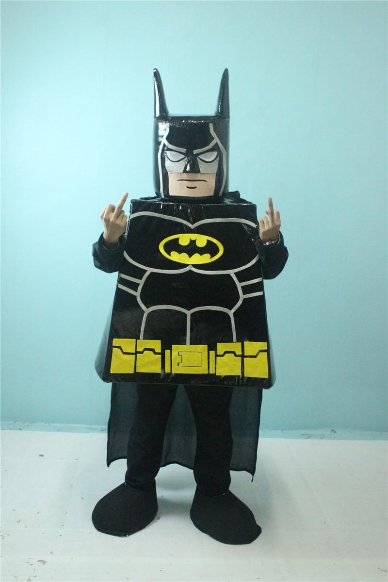 New Mascot Lego Batman Mascot costume Customize Cartoon Character Cosplay Carnival Costume Fancy Dress Mascot