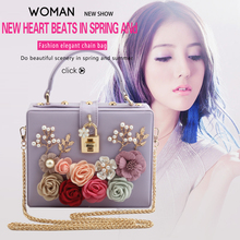 LETODE New Fashion Prom Evening Bag Alloy Flower Pearl Rose Luxury Banquet Party Handbag Women Wedding Shoulder & Crossbody Bags цены