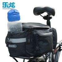 Roswheel bicicleta pannie assento traseiro tronco saco saco de rack de bicicleta grande capacidade 3 em um multi funcional equitação sacos de armazenamento|bike rack bag|rack bag|trunk bag -