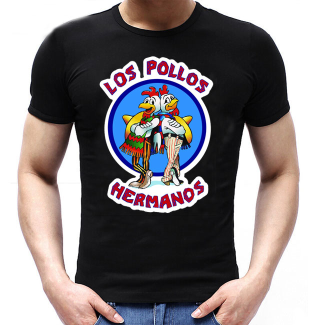 Los Pollos Hermanos T Shirts Men Breaking Bad T-shirts Sitcoms Summer  Cotton Clothing Swag Heisenberg Tee Shirts 0ea3fd3579ce