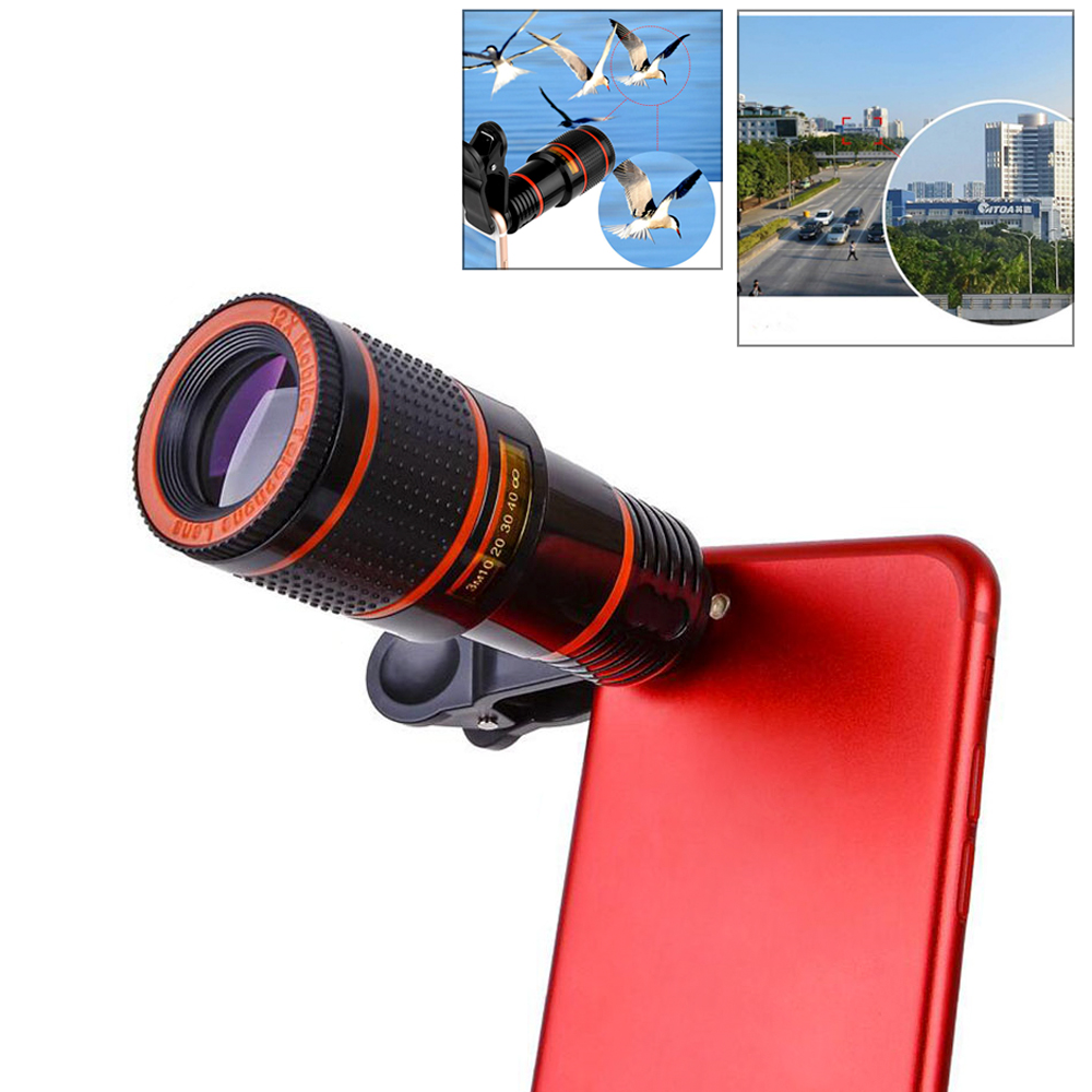 Optical Zoom 8X Mobile Phone Telescope <font><b>Lens</b></font> HD Telescope <font><b>Camera</b></font> <font><b>Lens</b></font> With Clip For Iphone X 8 7 <font><b>Samsung</b></font> S8 <font><b>S9</b></font> Xiaomi Universal image