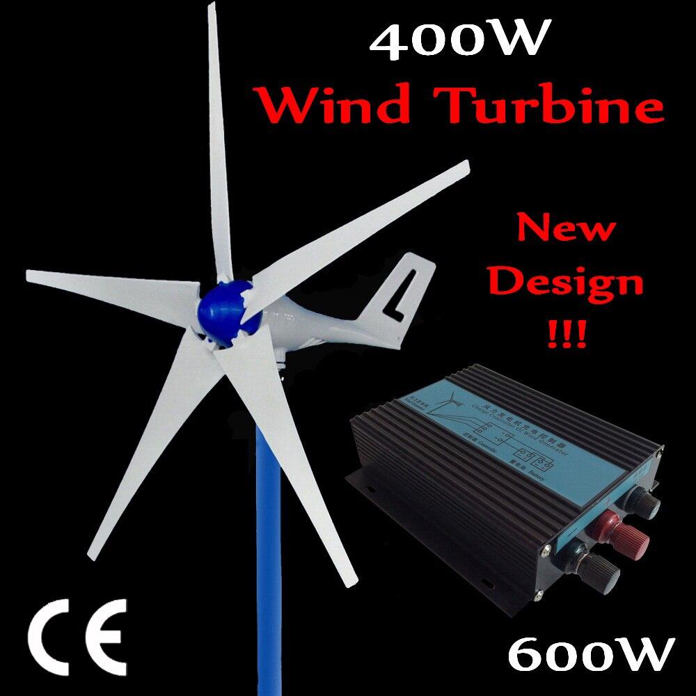 2018 nouvelle conception 400 W DC éolienne générateur 12 V 24 V max 600 W éolienne avec 600 W éolienne contrôleur de charge