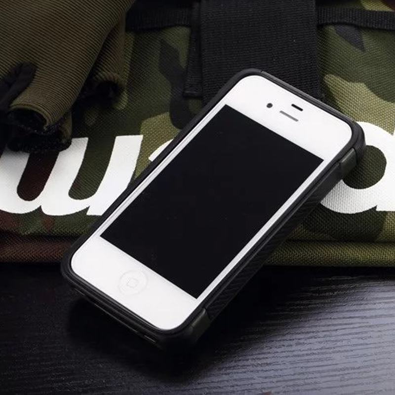 For Le Iphone 4 Case Silicone Cell Phone 4s Rugged Armor Shockproof Back Cover In Ed Cases From Cellphones