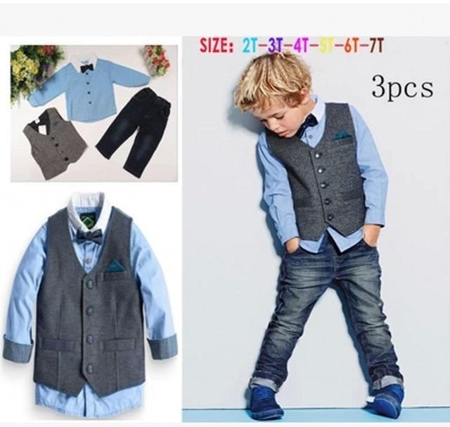 d07fc66c4 EMS DHL Free Shiping Wholesale Little Boys Toddler Kids Children 3PC ...