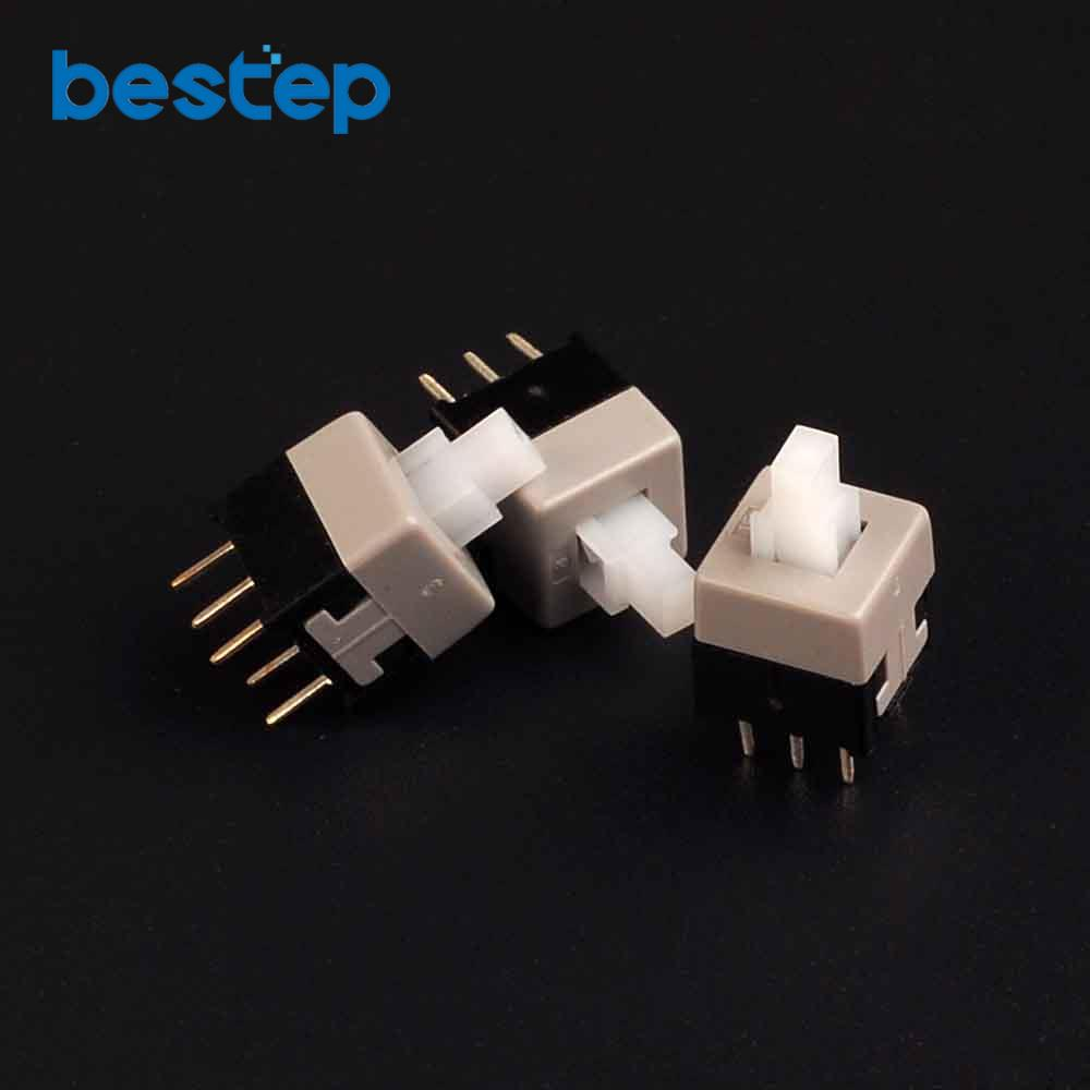 50PCS 8.5mm x 8.5mm Push Tactile Power Micro Switch Self lock On/off Button
