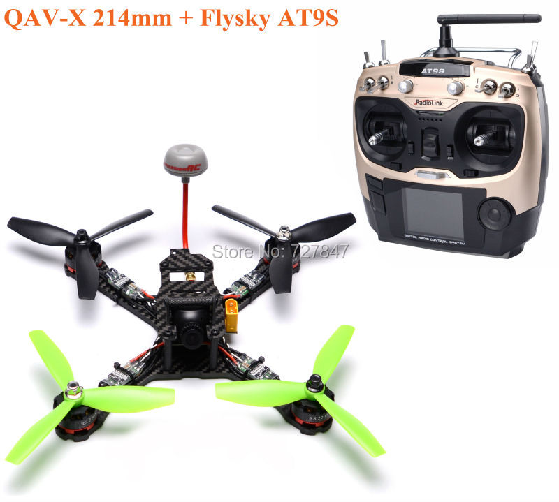 QAV-X 214mm Carbon Fiber LittleBee 20A OPTO PRO ESC F3 Flight Control Deluxe RS2205 2300kv TS5828L PDB Radiolink AT9S frame f3 flight controller emax rs2205 2300kv qav250 drone zmr250 rc plane qav 250 pro carbon fiberzmr quadcopter with camera