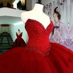 Luxury heavy beading red quinceanera dresses long puffy ball gown crystal sweetheart tulle vestidos de 15.jpg 250x250