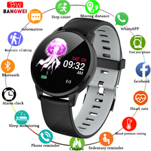 цена LIGE Fitness Smart Bracelet Women Heart Rate Blood Pressure Monitor LED color screen Sport Tracker Smart Watch For IOS Android