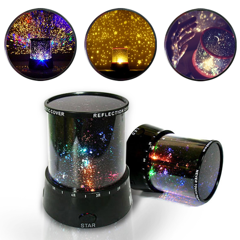 Romantic Colorful Sky Star Holiday Gift Cosmos Sky Master Projector LED Starry Night Light Lamp Wave Projector