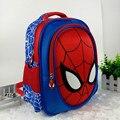 2016 3D de dibujos animados de spiderman niños del bolso de escuela los estudiantes mochila impermeable chicos cool 20-35L de viaje bolsa de kindergarten regalo del niño
