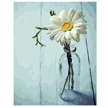 WEEN white daisy- DIY Paint by Number Kits for Adults, Acrylic ,Wall Art Picture, Painting Numbers on Canvas 16x20inch