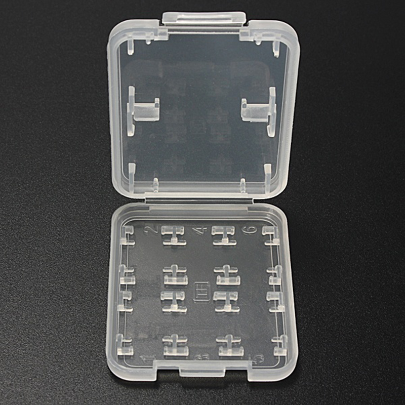 Durable 8 In 1 Plastic Micro SD SDHC TF MS Memory Card Storage Case Box Protector Holder