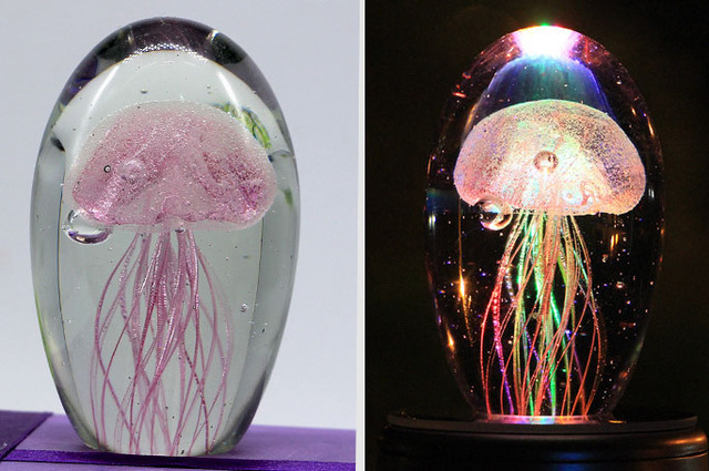 Jelly Fish Crystal Lamp pink