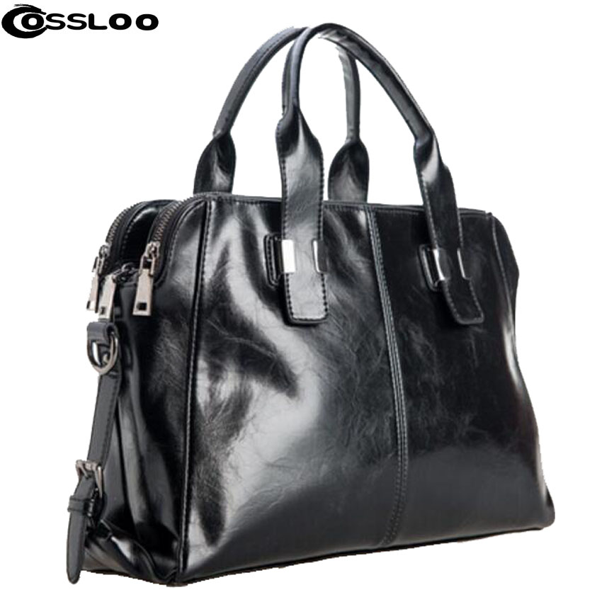 COSSLOO Hot women leather handbag 2018 fashion tote vintage bag leather crossbody bag shoulder bag brand women messenger bags 2018 fashion female shoulder bag canvas women handbag vintage messenger bag crossbody bags leisure tote women bag