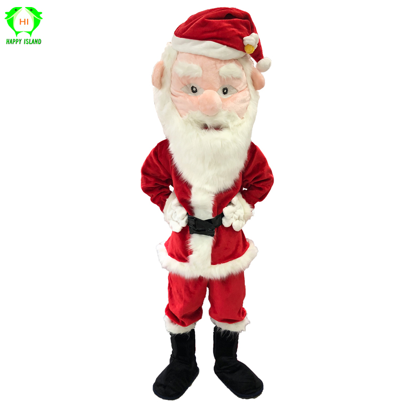 Christmas Santa Claus Mascot Costumes Men Christmas Festival Fancy Dress Cosplay Costume for Adult Santa Cartoon Plush Costume