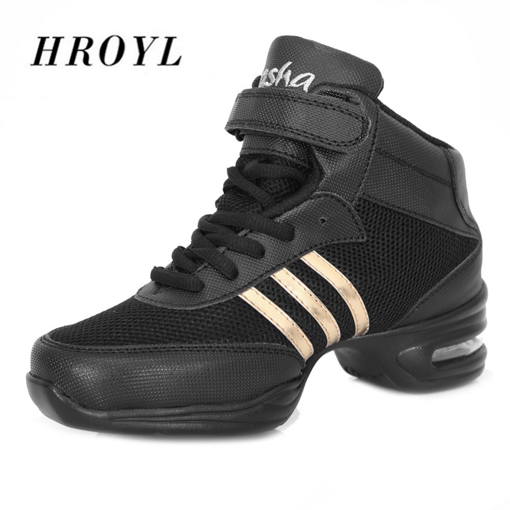 Fitness Soft Sole Dance Shoes Breathable Dance Sneakers Air Mesh Square Dancing Jazz Hip Hop Shoes Size 34-44 Hot Sale цена