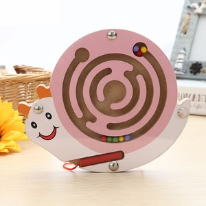 Image 4 - Baby Educational Maze Wooden Puzzle Animal Magnetic Maze Toys Baby Mental Intellectual Development Games Small Pen Kids Toy