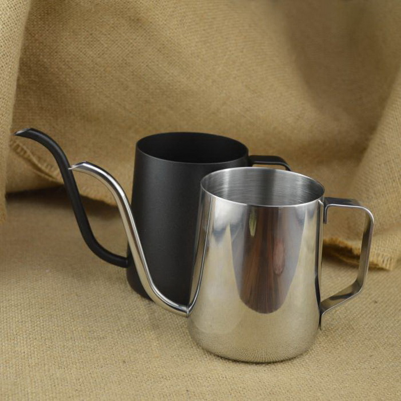 Thick 304 stainless steel mounting bracket hand punch coffee cup mug drip gooseneck spout kettle ...