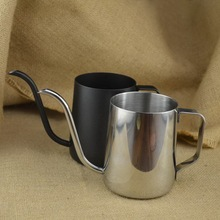 Thick 304 stainless steel mounting bracket hand punch pot coffee pot drip gooseneck spout kettle