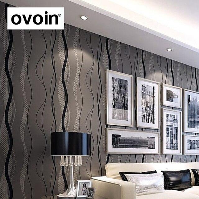 Welle Grauen Linien Streifen Moderne Tapete Vlieswandverkleidung Klassische  Glitter Tapeten Hintergrund Wand Tapete Wohnzimmer