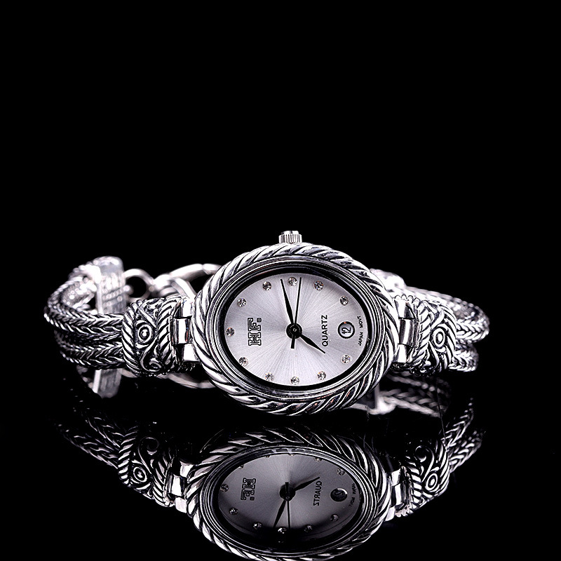 Silver Products Manufacturers Direct New S925 Sterling Silver Jewelry Vintage Thai Silver Precision Womens Bracelet WatchesSilver Products Manufacturers Direct New S925 Sterling Silver Jewelry Vintage Thai Silver Precision Womens Bracelet Watches