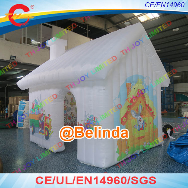 4x3m Easter decoration inflatable house tent Easter holiday inflatable decoration inflatable cabin house & Free shipping! 4x3m Easter decoration inflatable house tent Easter ...
