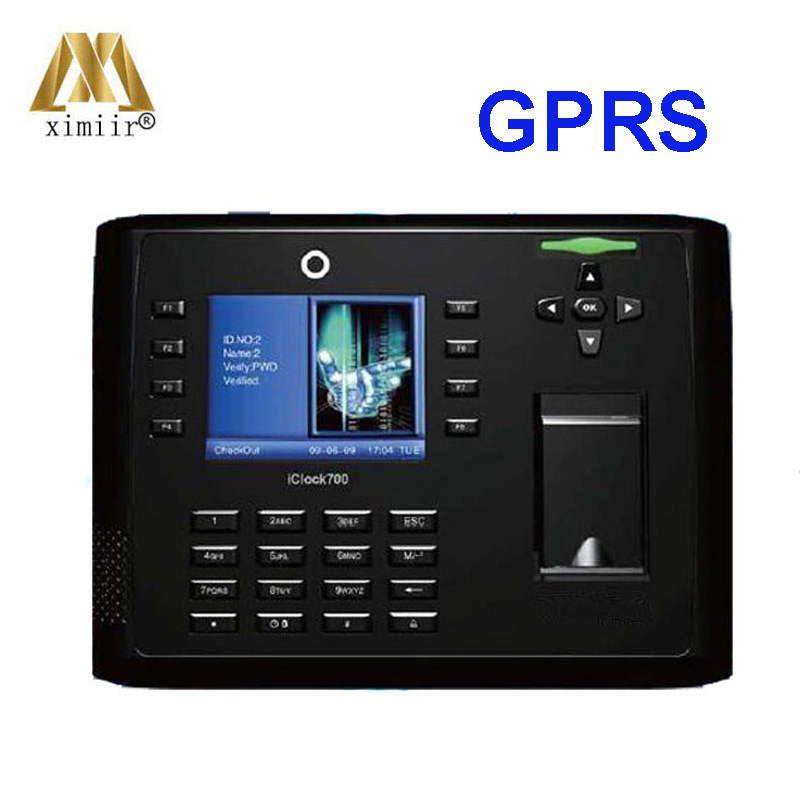 Linux System GPRS TCP/IP Finger Print Time Clock Iclock700 Fingerprint Recognition Time Attendance Access Control With Battery