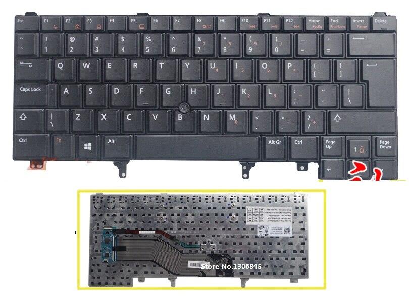 UI Keyboard English For DELL Latitude E5420 E5430 E6220 E6320 E6330 E6420 E6430 laptop black