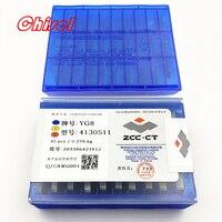 free shipping ZCC.CT 30pcs/box 4130511 YT5 YW2 YW1 YT15 YT14 YG6 YG8 carbide brazed milling inserts welding tips blade cutter