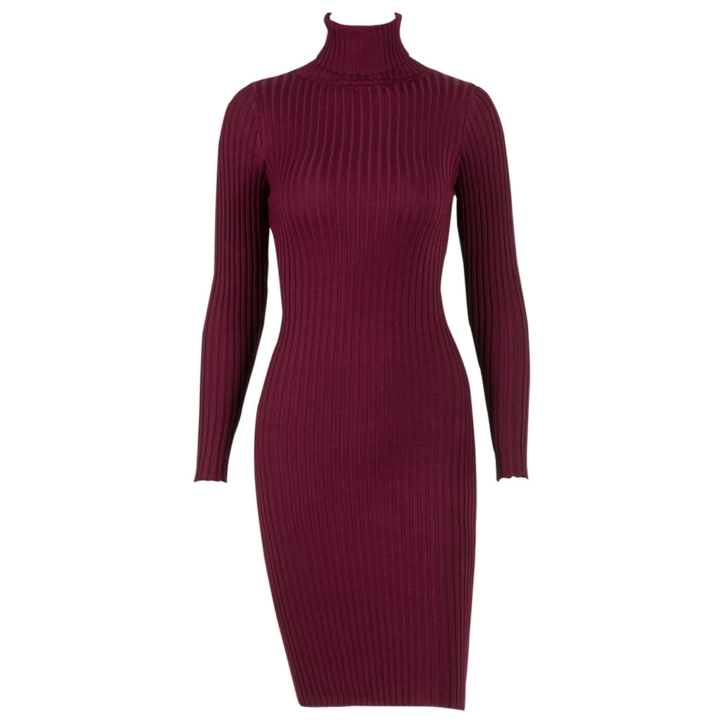 Women Warm Turtleneck Sweater Dress 2017 Winter Long Sexy Lurex Bodycon Dresses Elastic Striped Skinny Knitted Dress Vestidos women turtleneck front pocket sweater dress