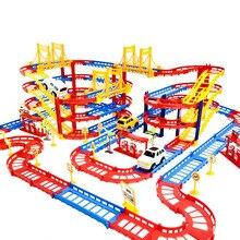 Rail de Train électrique 3D pour enfants, véhicule de Construction multicouche, modèle assembler, jouets éducatifs, cadeau pour garçons