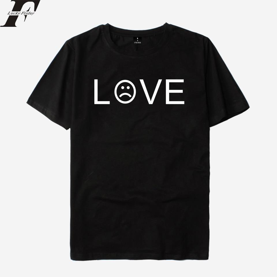 LUCKYFRIDAYF Lil Peep R.I.P Rapper Short Sleeve T shirt Men/Women LOVE Cotton Hip Hop T-shirt Male Summer Loose Top Tees 2018