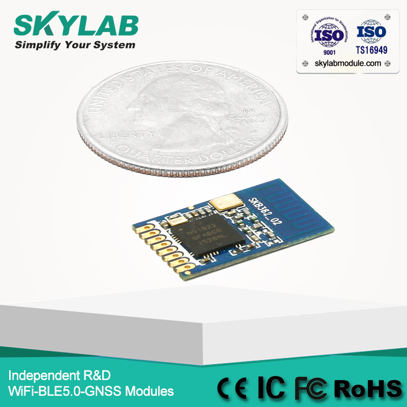 US $28 0 |Cheapest nRF51822 QFAB type UART Baud rate 115200bps Bluetooth  4 0 Low Energy Module for ibeacon and eddystone-in GPS Receiver & Antenna