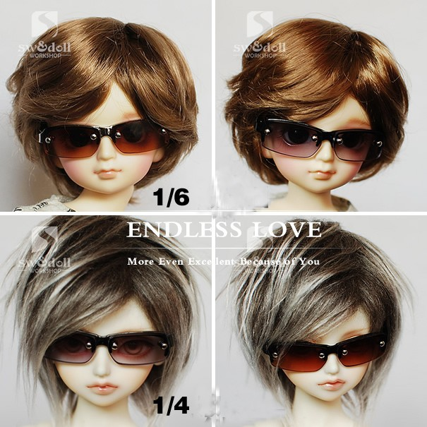 Handsome Semi-rimmed Glasses For 1//4 1//3 SD17,Uncle BJD Doll Accessoriesb GS7