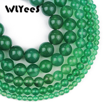 WLYeeS Natural Stone Green Carnelian Beads 4 6 8 10 12mm Round Loose Space Bead Ball for DIY Jewelry Bracelet Necklac Making 15