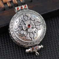 S925 Sterling Silver deer antique style open Mens personality Pendant