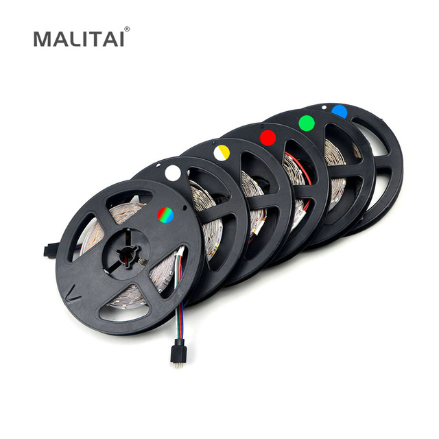 1 Pack Upgrade Mehr Heller Als Alte 3528 SMD RGB Flexible LED streifen licht 300 LEDs/5 Mt String beleuchtung Dekoration lampe Band