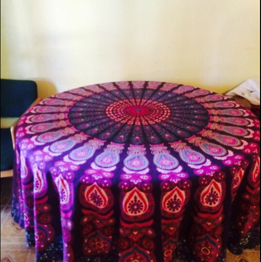 2016New Chiffon Indian Mandala Round Round Beach Tapestry Boho Gypsy  Tablecloth,Beach Towel,Round Yoga Mat 002 In Tablecloths From Home U0026 Garden  On ...