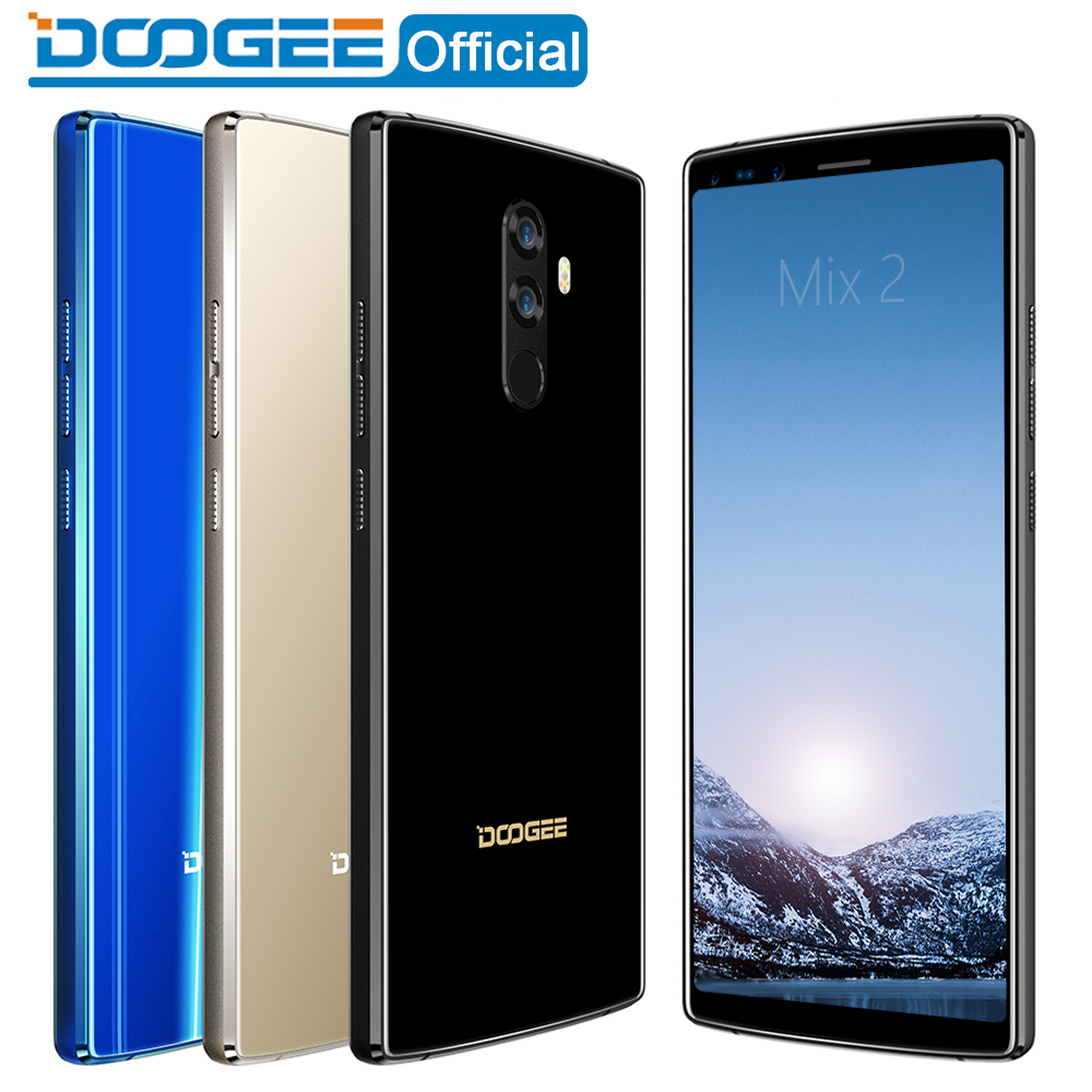DOOGEE Mix 2 Android 7.1 4060mAh 5.99'' FHD+ Helio P25 Octa Core 6GB RAM 64GB ROM Smartphone Quad Camera 16.0+13.0MP 8.0+8.0MP
