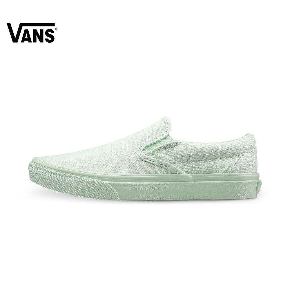 Original Vans New Arrival Summer Green Color Men's & Women's Lover's Skateboarding Shoes  Sports Shoes  Sneakers