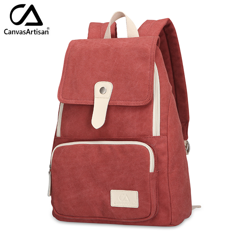 Canvasartisan top quality women canvas backpack new fashion style leisure female travel rucksuck backpacks various color